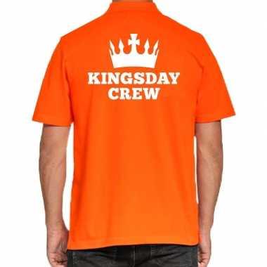 Goedkope koningsdag polo t shirt oranje kingsday crew voor heren