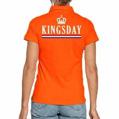 Goedkope koningsdag polo t shirt oranje kingsday voor dames