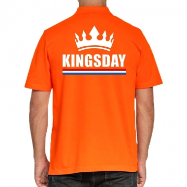 Goedkope koningsdag polo t shirt oranje kingsday voor heren