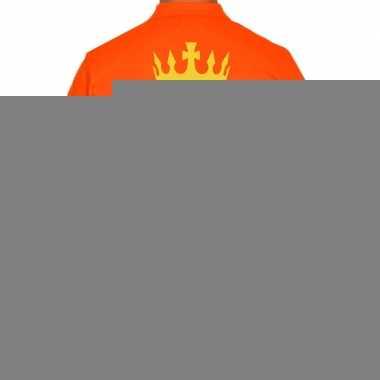 Goedkope koningsdag polo t shirt oranje koning zuipen voor heren
