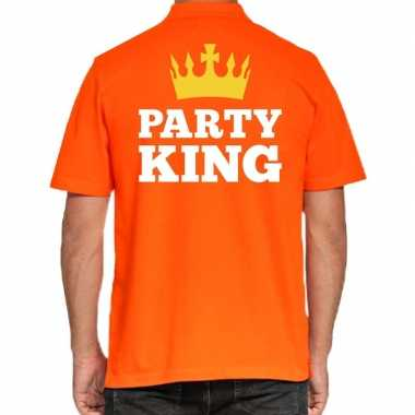 Goedkope koningsdag polo t shirt oranje party king voor heren