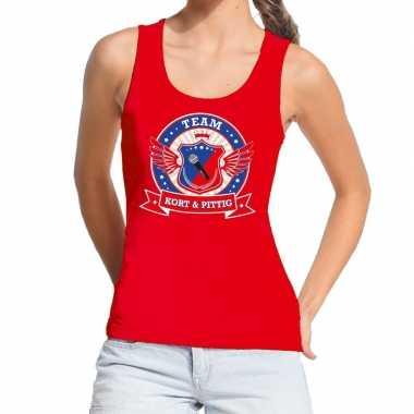 Goedkope kort en pittig team tanktop / mouwloos shirt rood dames