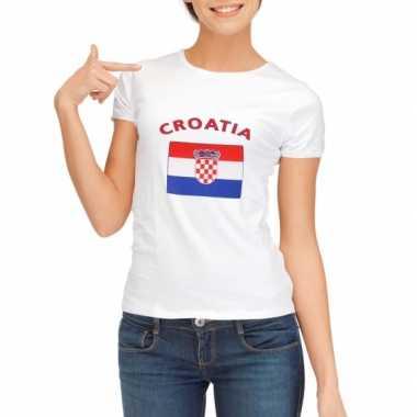 Goedkope kroatie vlag t-shirt voor dames
