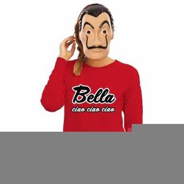 Goedkope la casa de papel masker inclusief rode bella ciao trui voor