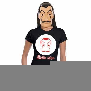 Goedkope la casa de papel masker inclusief zwart dali t shirt voor da