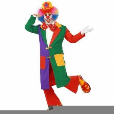 Goedkope lange clowns jas voor volwassenen