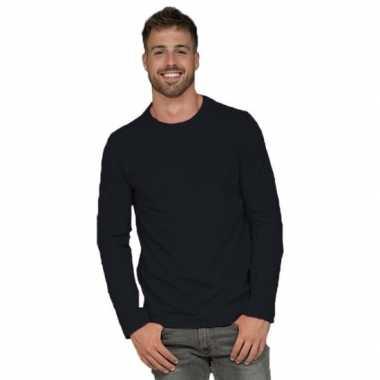 Goedkope lange mouwen stretch t shirt zwart voor heren
