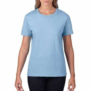 Goedkope licht blauwe dames casual t shirts met ronde hals
