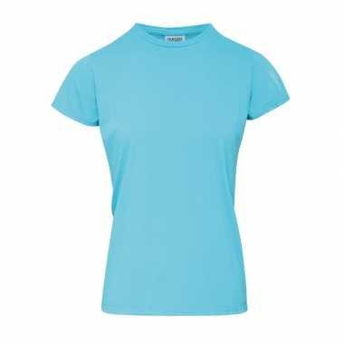 Goedkope licht blauwe dames t shirts met ronde hals
