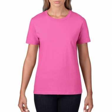 Goedkope licht roze dames casual t shirts met ronde hals