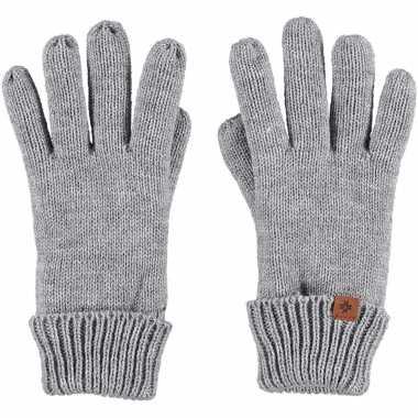 Goedkope lichtgrijze handschoenen met fleece voering voor jongens/meisjes/kinderen