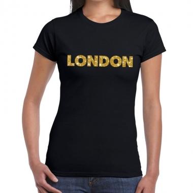 Goedkope london fun t shirt zwart voor dames