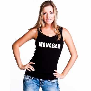 Goedkope manager mouwloos shirt zwart voor dames