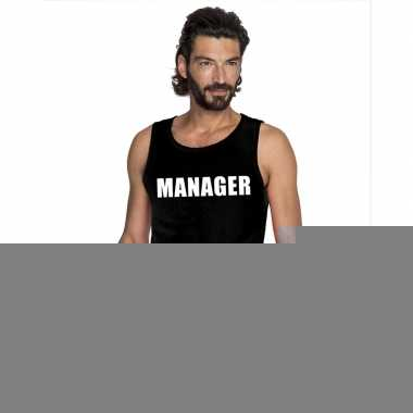 Goedkope manager mouwloos shirt zwart voor heren