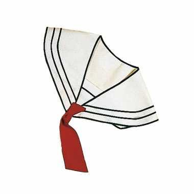 Goedkope matroos kraag met stropdas wit