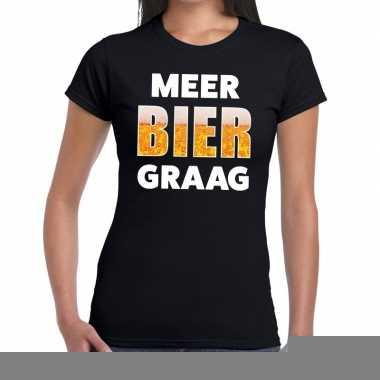 Goedkope meer bier graag fun t shirt zwart voor dames