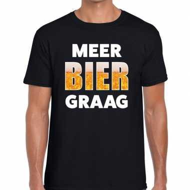 Goedkope meer bier graag fun t shirt zwart voor heren