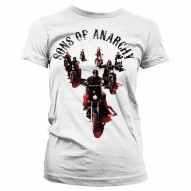 Goedkope merchandise sons of anarchy shirt dames wit