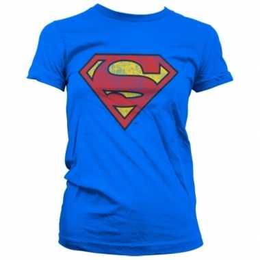 Goedkope merchandise superman logo shirt dames
