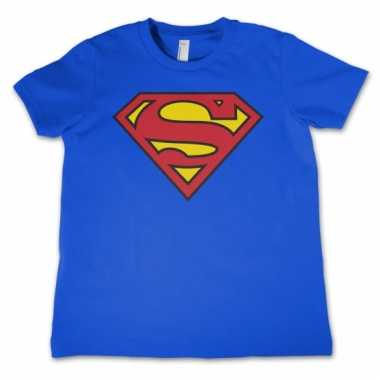 Goedkope merchandise superman logo shirt kids