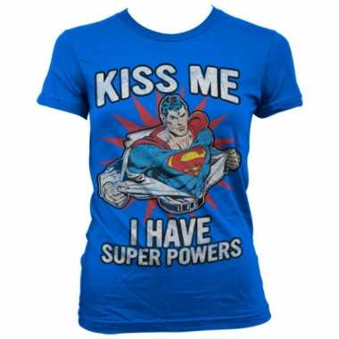 Goedkope merchandise superman powers shirt dames