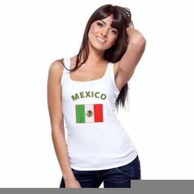 Goedkope mexicaanse vlag tanktop t-shirt voor dames