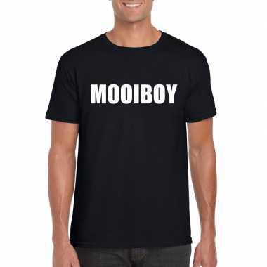 Goedkope mooiboy fun t shirt zwart voor heren