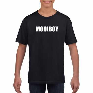 Goedkope mooiboy fun t shirt zwart voor jongens en meisjes