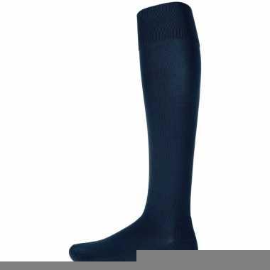 Goedkope navy blauwe hoge sokken 1 paar