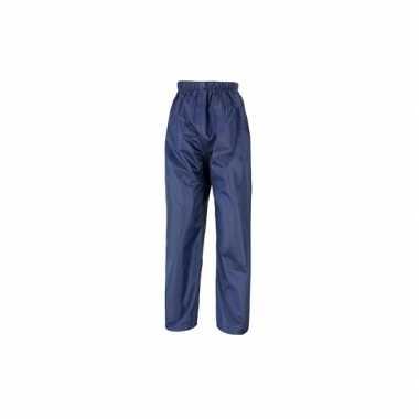 Goedkope navy blauwe regenbroeken voor volwassenen