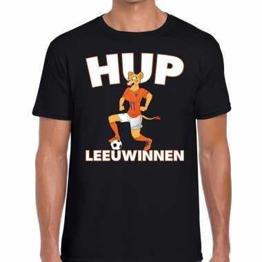 Goedkope nederlands dames elftal supporter shirt hup leeuwinnen zwart
