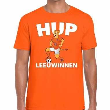 Goedkope nederlands elftal supporter shirt hup leeuwinnen oranje voor
