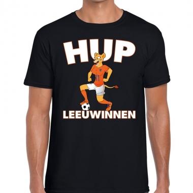 Goedkope nederlands elftal supporter shirt hup leeuwinnen zwart voor