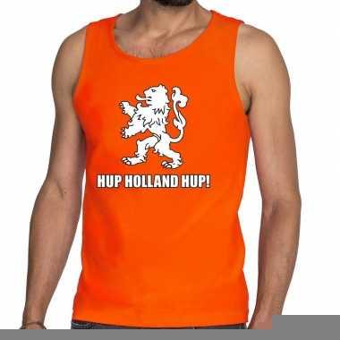 Goedkope nederlands elftal supporter tanktop / mouwloos shirt hup hol