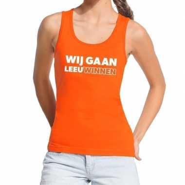 Goedkope nederlands elftal supporter tanktop / mouwloos shirt wij gaa