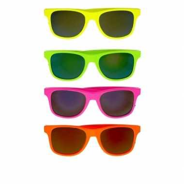 Goedkope  Neon gekleurde zonnebril