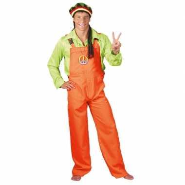 Goedkope neon oranje tuinbroek voor dames en heren