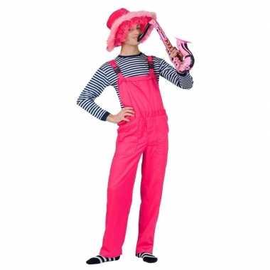 Goedkope neon roze tuinbroek voor dames en heren