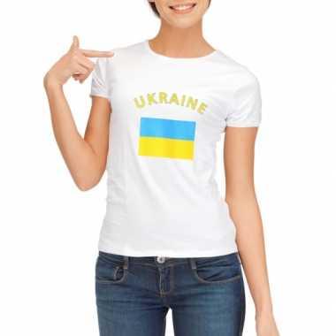 Goedkope oekraiense vlag t-shirt voor dames
