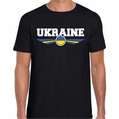 Goedkope oekraine / ukraine landen shirt zwart voor heren