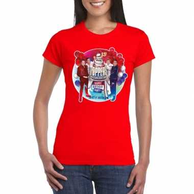 Goedkope officieel toppers in concert 2019 t shirt rood dames