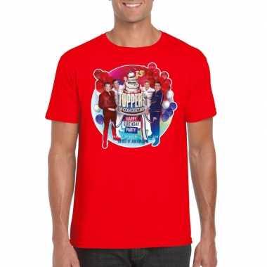 Goedkope officieel toppers in concert 2019 t shirt rood heren