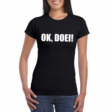 Goedkope ok doei fun t shirt voor dames zwart