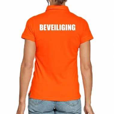 Goedkope oranje beveiliging polo t shirt voor dames
