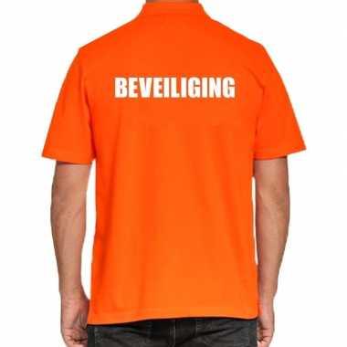 Goedkope oranje beveiliging polo t shirt voor heren