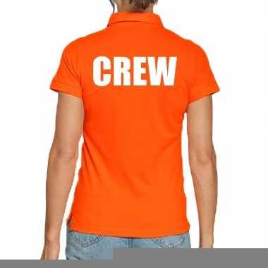 Goedkope oranje crew polo t shirt voor dames