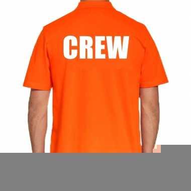 Goedkope oranje crew polo t shirt voor heren