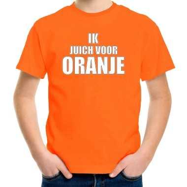 Goedkope oranje fan shirt / kleren holland ik juich voor oranje ek/ wk voor kinderen