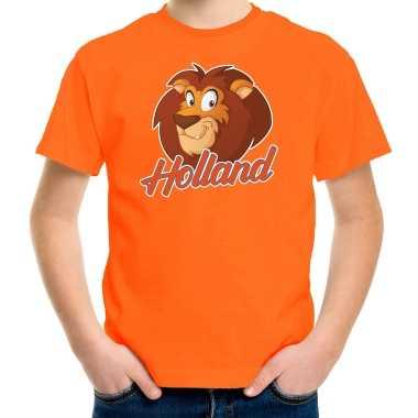 Goedkope oranje fan shirt / kleren holland leeuw voor koningsdag / ek / wk voor kinderen