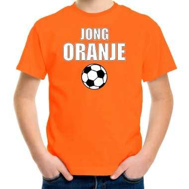 Goedkope oranje fan shirt / kleren jong oranje ek/ wk voor kinderen